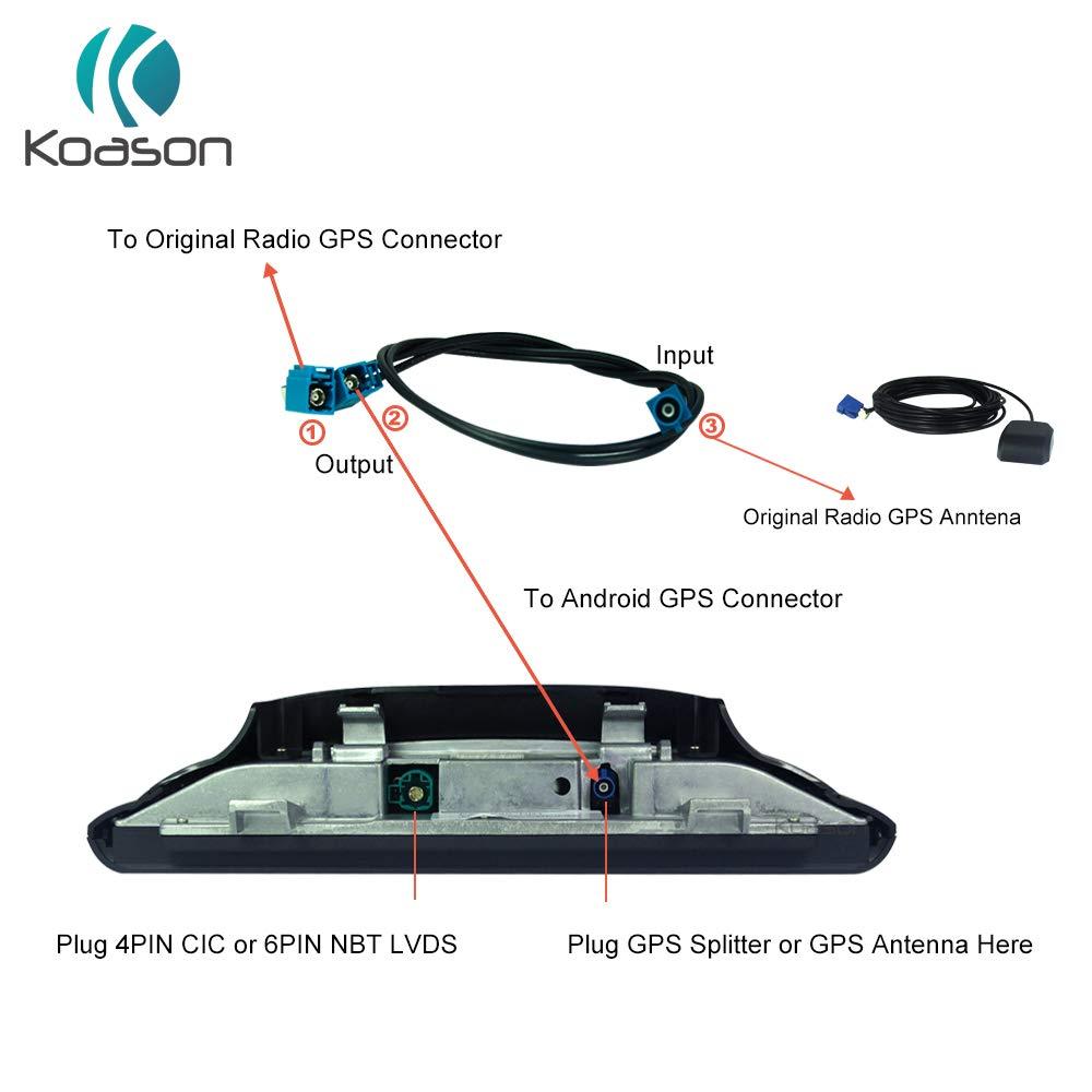 Koason Car GPS Antenna Splitter Cable for BMW Benz Android Screen Car Audio Video by Koason