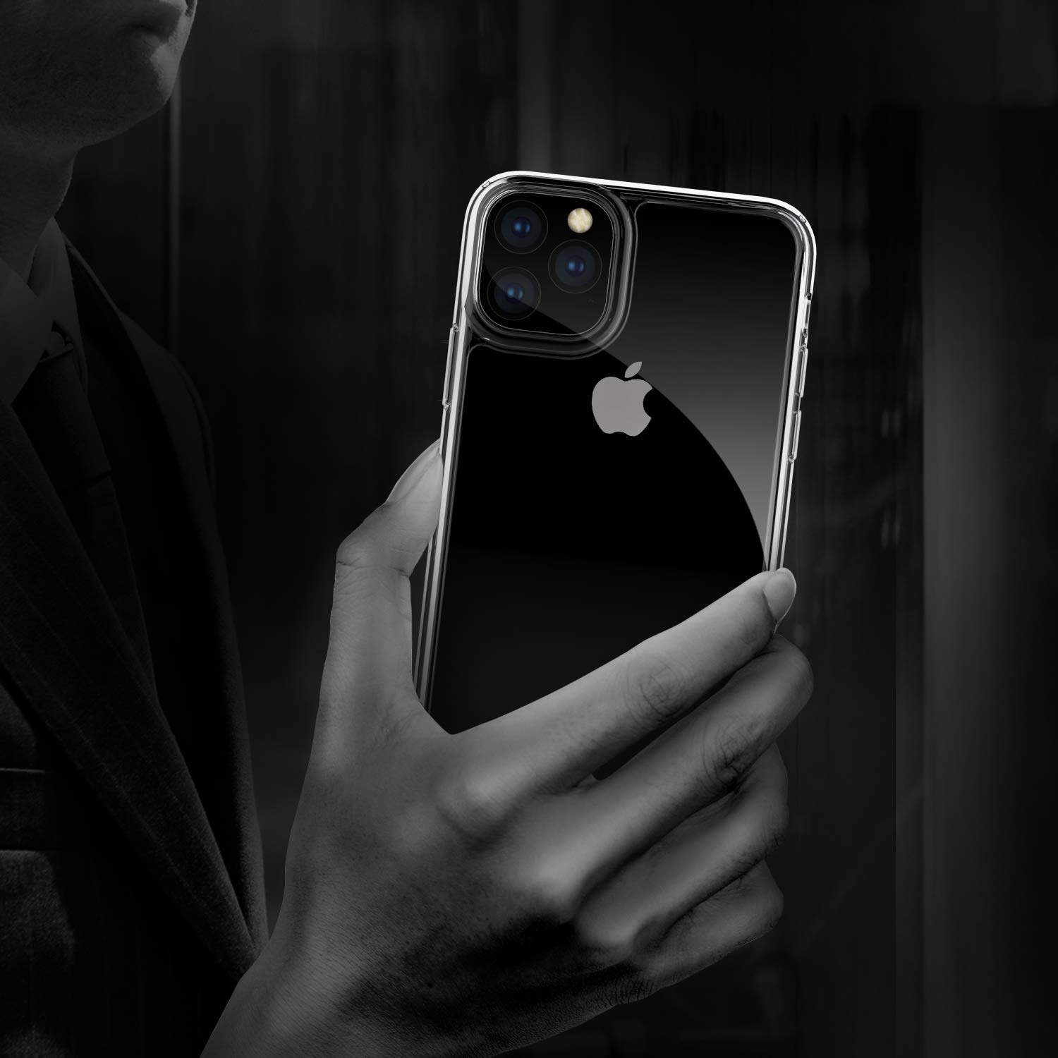 iPhone 11 Pro Case, Supwall 9H Tempered Glass Shock Absorption Anti-Scratch Mimics The Glass Back of iPhone Support Wireless Charging Cover for iPhone 11 Pro 5.8 inch Crystal Clear (Clear)