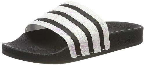Details zu Adidas Originals adilette Slides Women's Red UK 4 New beach and pool sandals