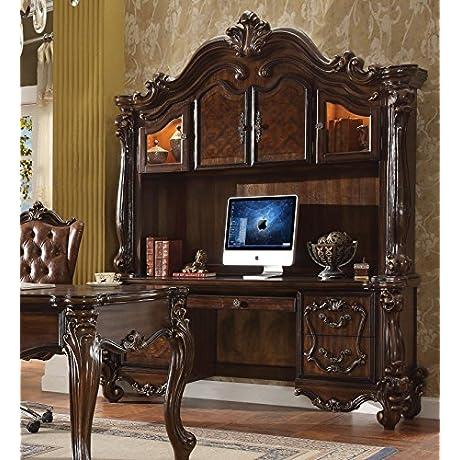 ACME Furniture 92284 Versailles Executive Desk Hutch Cherry Oak