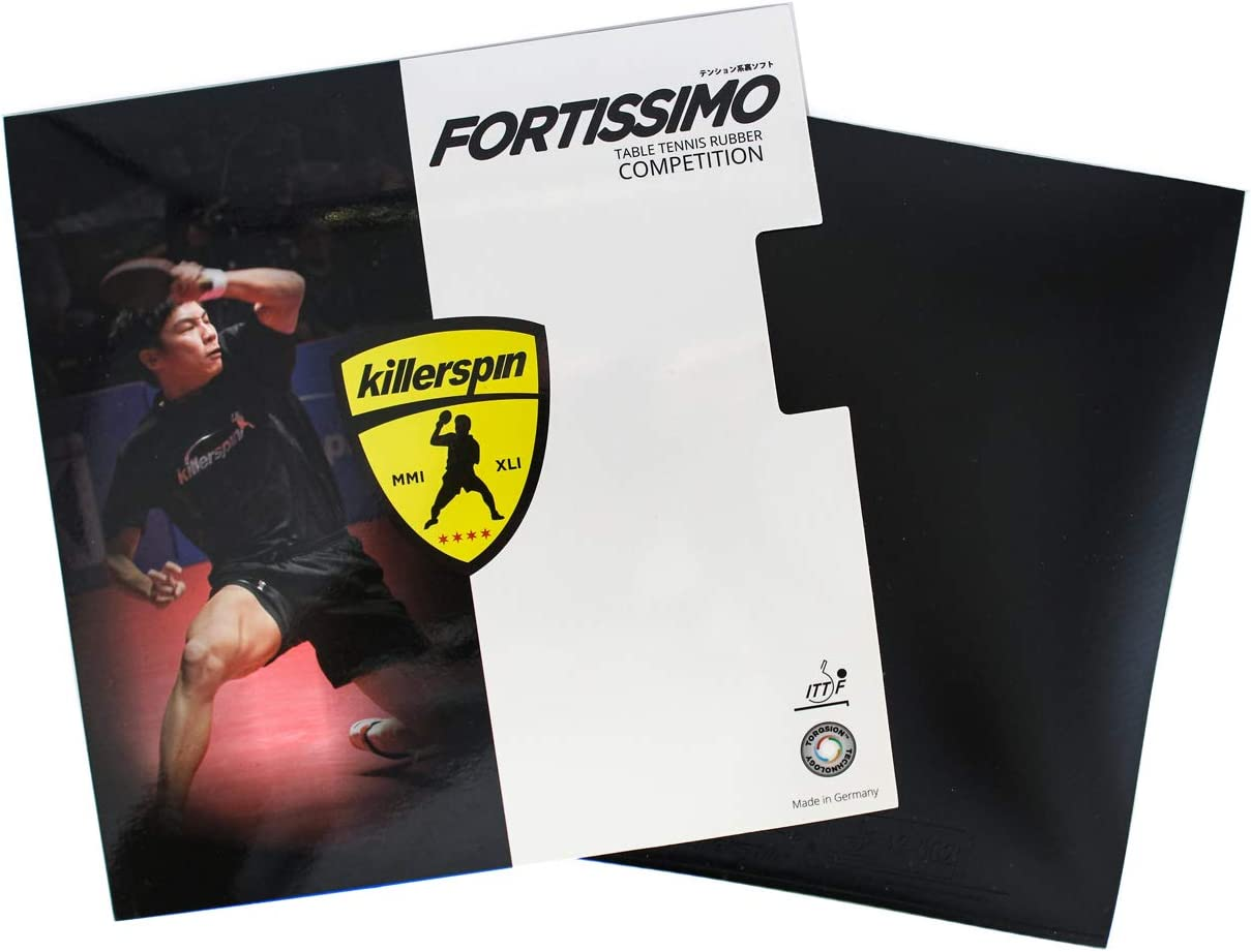Killerspin Fortissimo Blast Black Max Table Tennis Rubber : Teble Tennis Accesssories : Sports & Outdoors