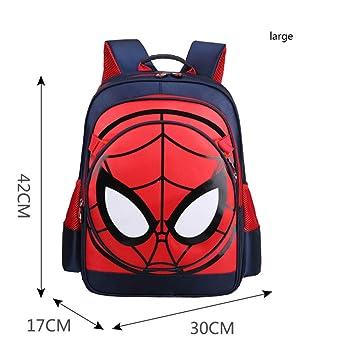 BAILIANG Mochila Escolar Infantil Spiderman 1-6 Grado Historieta Impermeable Mochila Infantil,Blue2-