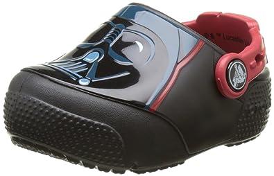 5b3359b1904bb crocs Boys  Crocsfunlab Lights Darth Vader Clog