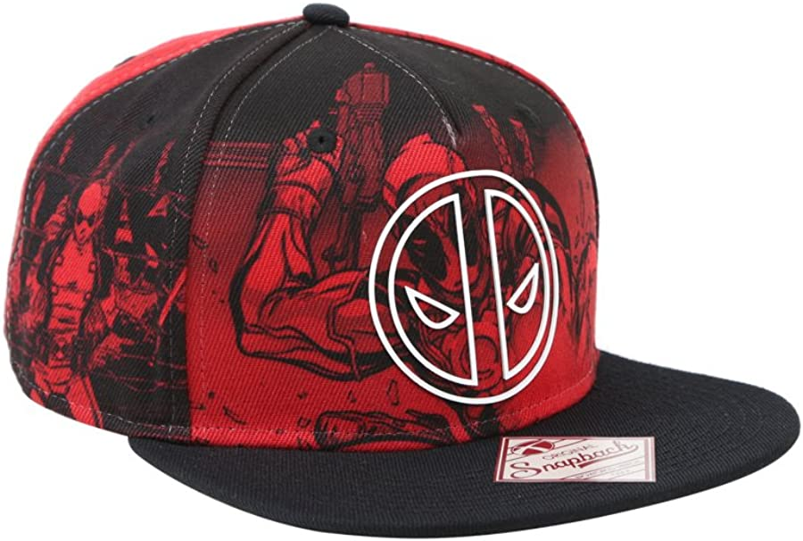 Marvel Deadpool sublimación Corona Sonic Weld Logo Gorra: Amazon ...