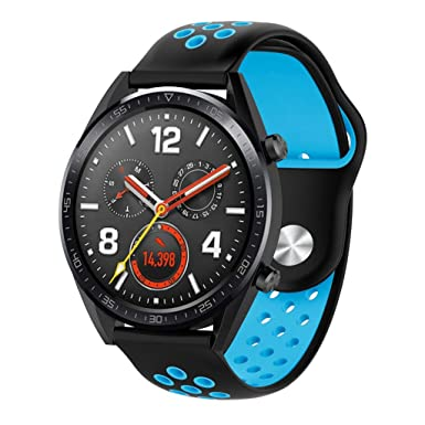 Mosstars Correa de Reloj para Reloj GT de Huawei Correa muñeca Correa Reloj reemplazo Deportes silicón Moda Correa de Muñeca Correas para Relojes Pulseras ...