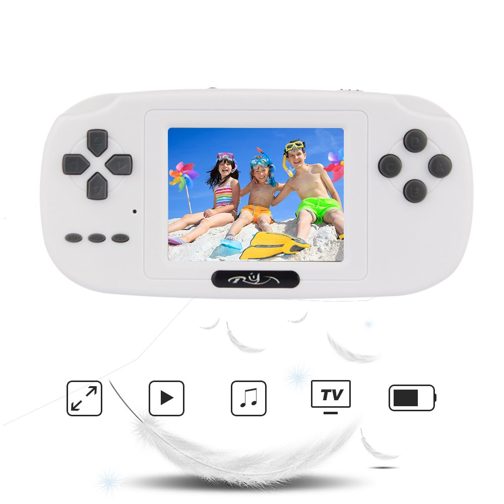 "Rongyuxuan Handheld Game Console, Portable Gaming Console 2.8""LCD PVP PLUS Game Player Handheld Game Console with 168 Classic Games, USB Charge Birthday for Children"