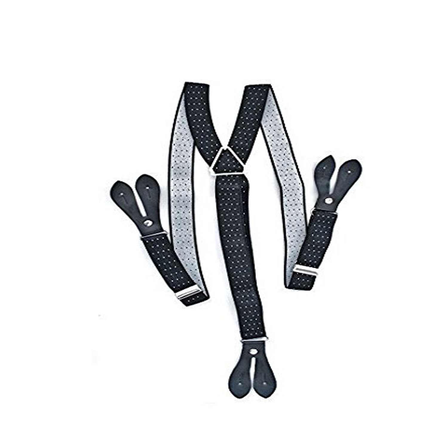 25mm Wide Adult Mens Adjustable Elastic Button Hole Suspenders Y Shape Braces