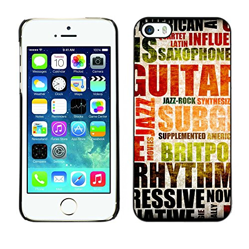Premio Sottile Slim Cassa Custodia Case Cover Shell // V00002016 Musique de fond // Apple iPhone 5 5S 5G