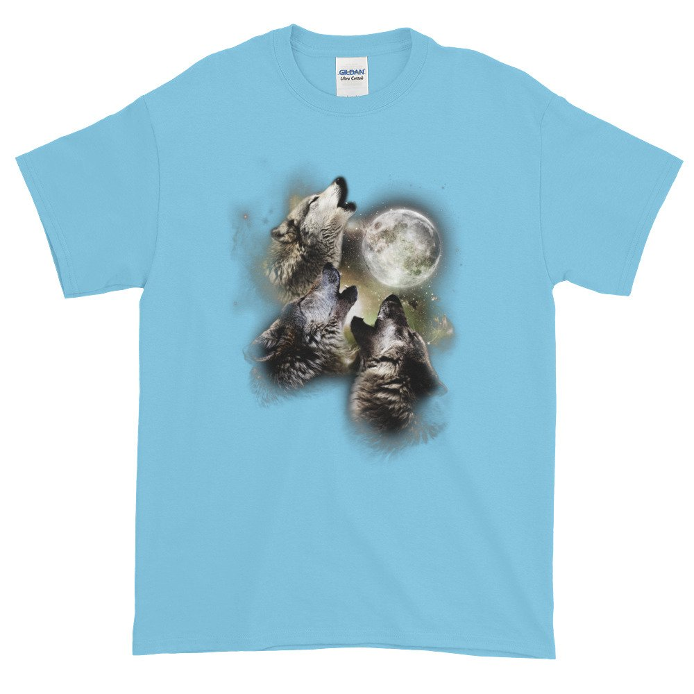 Arkansas Made Three Wolves Howling at The Moon Short Sleeve t-Shirt by