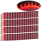 Kyпить YITAMOTOR 20x 12V Car Motorcycle 30CM 15SMD LED Waterproof Flexible Pure Red Light Strip на Amazon.com