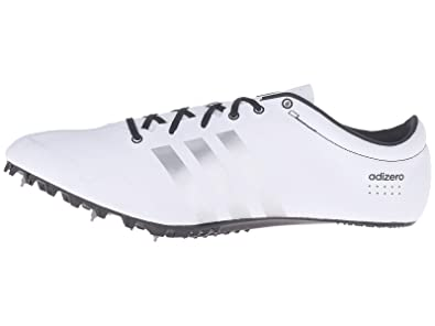 timeless design e560a 90d61 Adidas Performance Adizero Prime SP Running Shoe with Spikes,  WhiteSilverBlack,