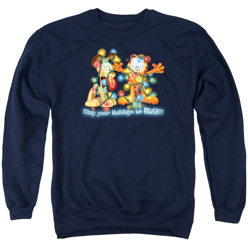 Garfield Men's Bright Holidays Sweatshirt Navy TREVCO