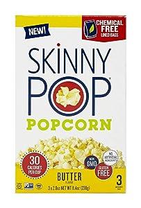 Skinny Pop Microwave Butter Popcorn, 8.4 oz (Pack of 2)