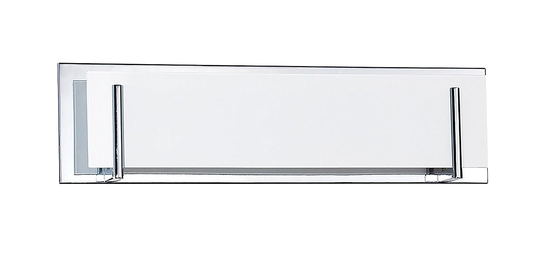 Kendal Lighting vf2400wh-7l-ch Aurora 7-light Vanity器具、クローム仕上げとホワイトガラス B00M5JWASE