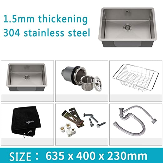 Kitchen Sink. 304 Fregadero de Acero Inoxidable Recipiente ...