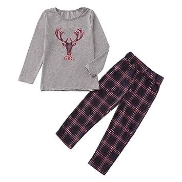 1b9c17cd8 Amazon.com  Loose Christmas Holiday Outfit Set Kids Baby Girl Long ...