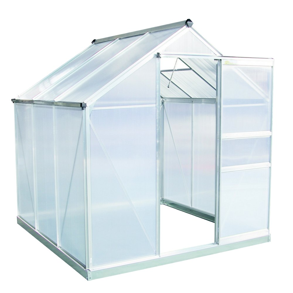 Palm Springs 6ft x 6ft Aluminum Walk in Greenhouse with polycarbonate panels by Palm Springs