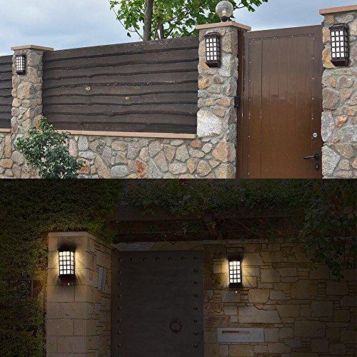 Solar Lights Outdoor, HUIHONG Outdoor Fence Lights, Wireless Waterproof LED  Solar Lights For Porch,Patio,Yard,Garden ...