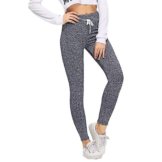 Mujer Pantalones Mallas Fitness Elásticos Color sólido Moda Verano Pantalones de Yoga Gym Slim Fit Pants Leggings Largos Pantalones Cintura Alta Mayas ...