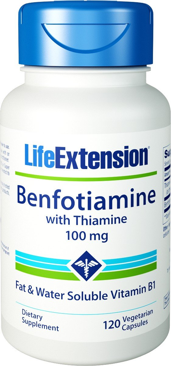 Life Extension - Benfotiamine with Thiamine - 100 Mg - 120 Caps (Pack of 2)