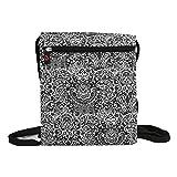 NuVur153; Universal Women's 10 inch Lace Print Backpack Bag Fits Nintendo Wii U GamePad|Black
