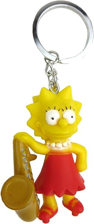 Amazon.com: Fox The Simpsons lisa 3d pvc llavero: Monogram ...
