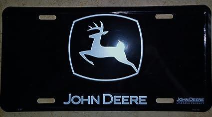John Deere License Plate (Black Logo) & Amazon.com: John Deere License Plate (Black Logo): Automotive