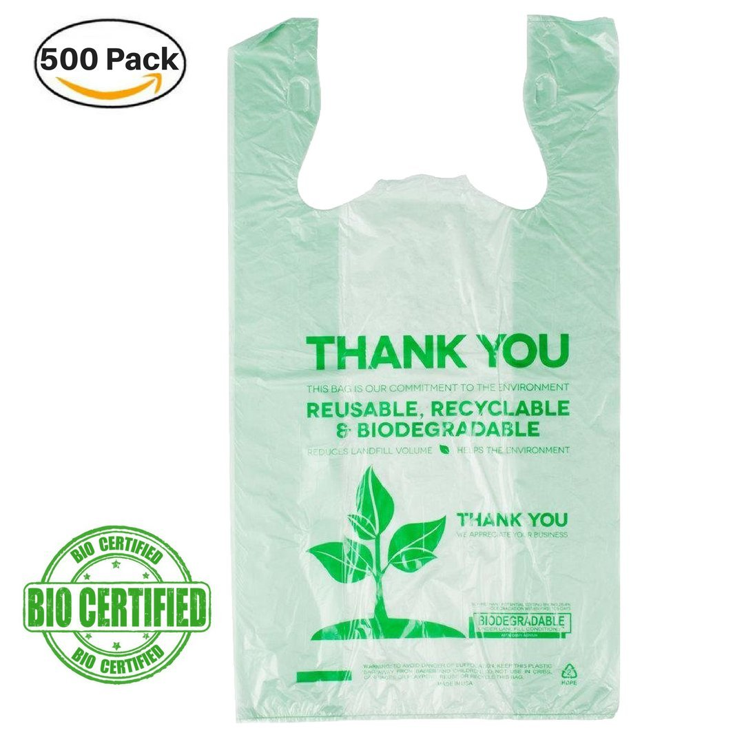 1/6 camiseta bolsa biodegradable Grocery bolsa de la compra, color ...