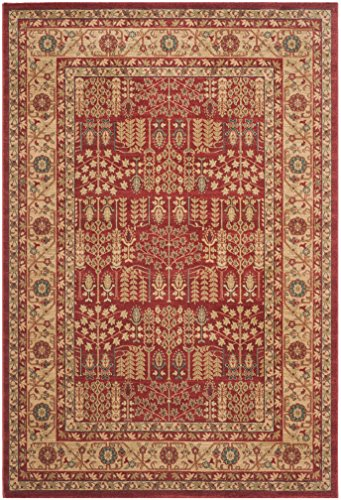 Rug Red Mahal (Safavieh Mahal Collection MAH697A Traditional Oriental Red and Natural Area Rug (6'7