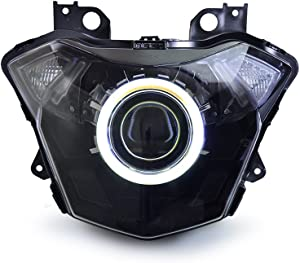 KT Headlight Assembly for Kawasaki Z650 2017+ White Angel Eye
