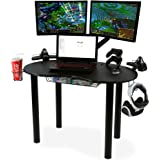 Atlantic 82050334 Space-Saving Gaming Desk Carbon Fiber Texture, Black