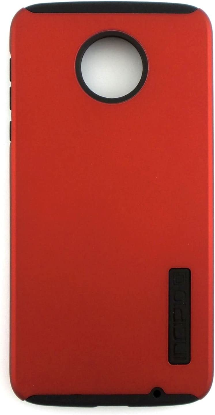 Incipio DualPro Dual Layer Rugged Hard Shell Exterior with Gel Interior for Shock Absorbing Protection Durable Hybrid Case for Motorola Moto Z Droid - Red / Black (Will Only Fit Motorola Moto Z Droid)