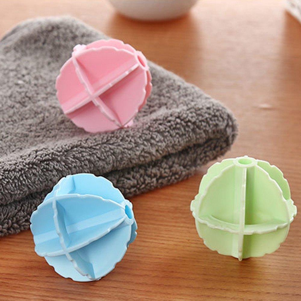 Yaohxu Lavadora De Pelota De Lavander/ía,Limpiar la Bola de lavander/ía Ayudar a Lavar la Ropa Secadora de Bolas,Aleatorio,2PCS