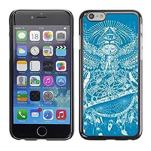 CaseCaptain Carcasa Funda Case - Apple Iphone 6 / Dream catcher Owl Tattoo Pattern /