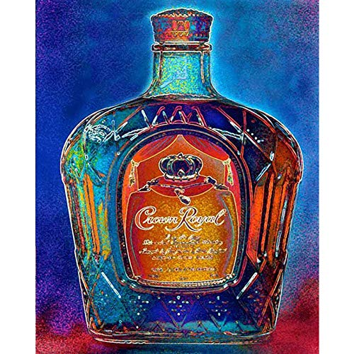 Diy 5D Diamond Painting Kits, Full Canvas Painting With Diamonds For Adults, Paint By Diamonds For Dream Home Decoration Art Craft 9.8X11.8 Inches, Colorful Wine Bottle(Frameless)