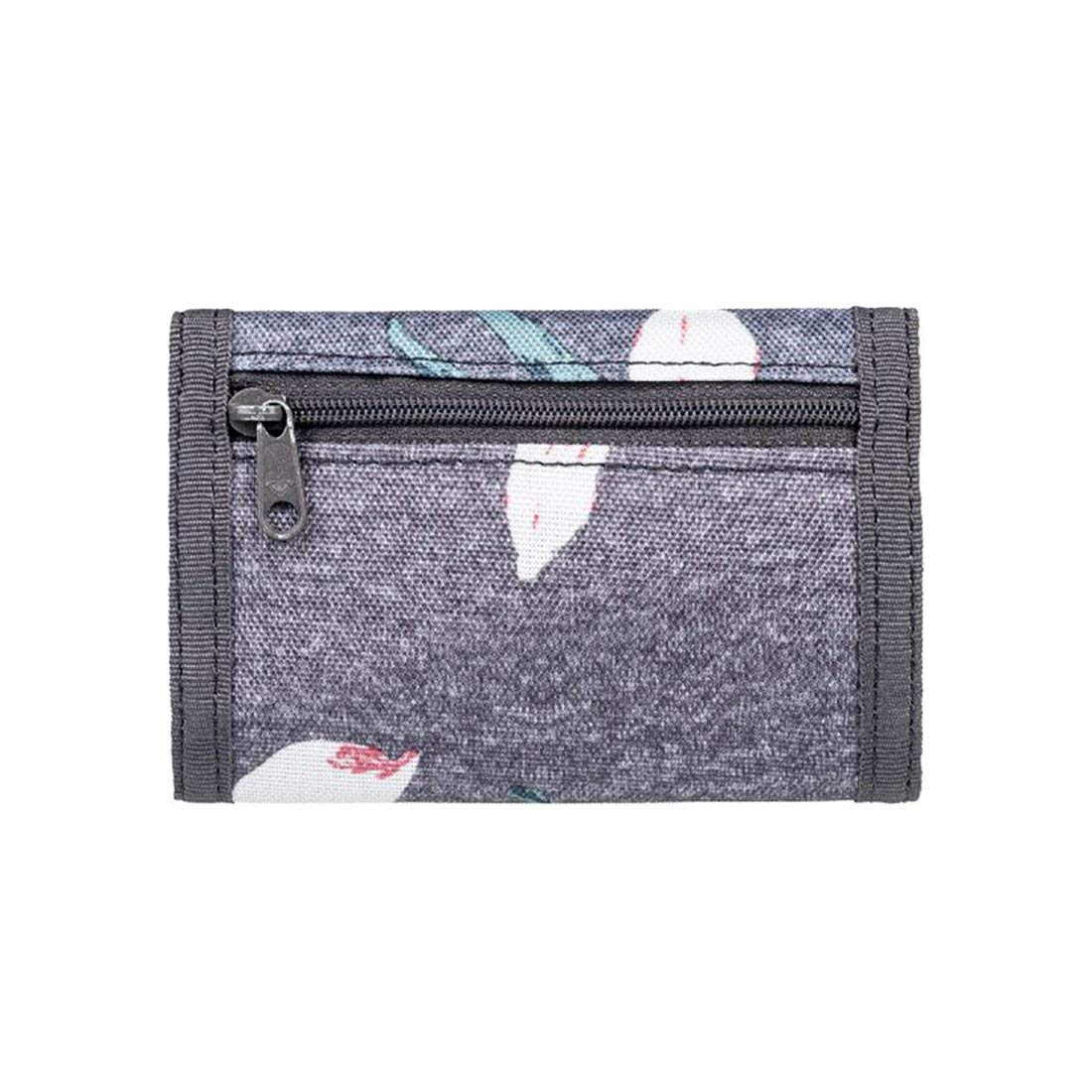 Roxy Small Beach 2 Coin Pouch Grey 12 cm Charcoal Heather Flower Field