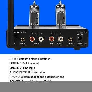 Scheda SD 100-240 V Amplificatore Audio Stereo in Alluminio con Display OLED Disco U EU Amplificatore di Potenza HiFi Bewinner DC 12V 1A Preamplificatore Bluetooth