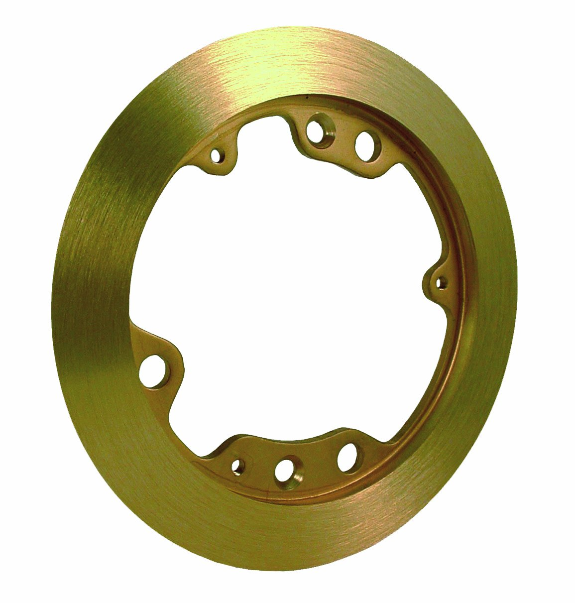 Hubbell-Raco 6230 5-1/4-Inch Round Brass Carpet Flange