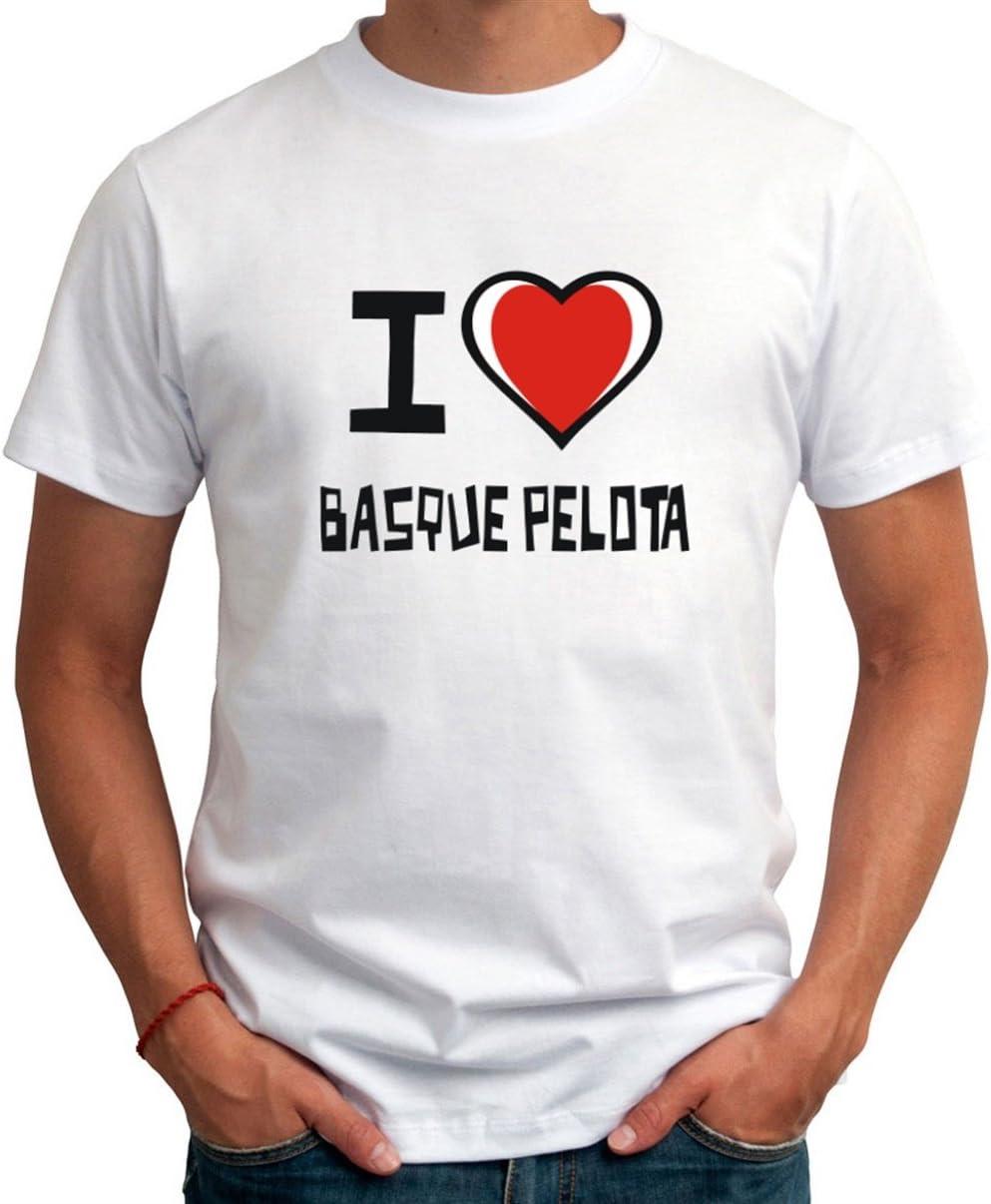 I Love Basque pelota vasca para hombre T-Shirt blanco small ...