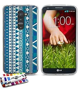 Carcasa Flexible Ultra-Slim LG G2 de exclusivo motivo [Azteca] [Transparente] de MUZZANO  + ESTILETE y PAÑO MUZZANO REGALADOS - La Protección Antigolpes ULTIMA, ELEGANTE Y DURADERA para su LG G2