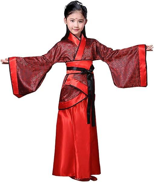XFentech Estilo Chino Hanfu - Disfraz de Chica Noble Rojo Elegante ...