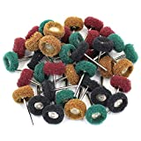 M-Aimee 40Pcs 1'' 25mm Abrasive Buffs Polishing Buffing Wheel for Dremel Rotary Tool Grinding Accessories