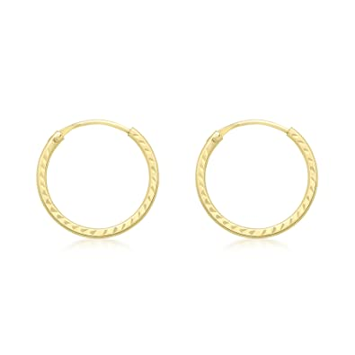 Carissima Gold 9ct Sleeper Hoop Earrings WyAI8ir