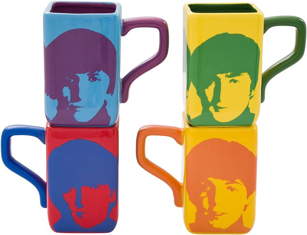 Vandor The Beatles Square Mug Set, Multicolored