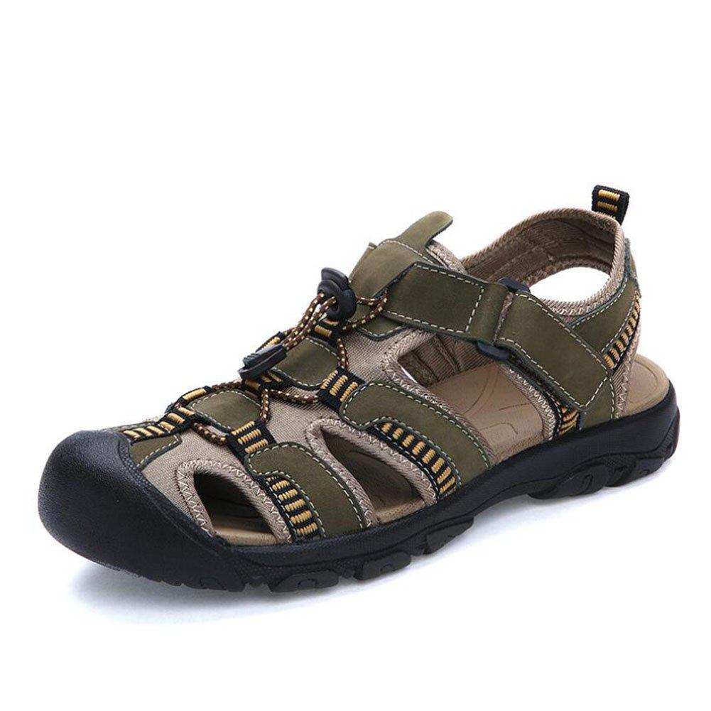 Männer Sommer Outdoor Baotou Sandaleen / 38-48 Große Größe Herren Sandaleen/LederSandalee / Breathable Casual Beach Schuhe (Farbe : C, Größe : 47)