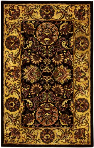 Traditional Rug - Golden Jaipur Wool Pile -Navy/Gold Navy/Gold/Traditional/8'L x 2' 6''W/Runner