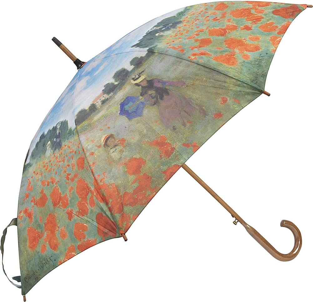 Galleria Poppies Long Walking Stick Style Umbrella