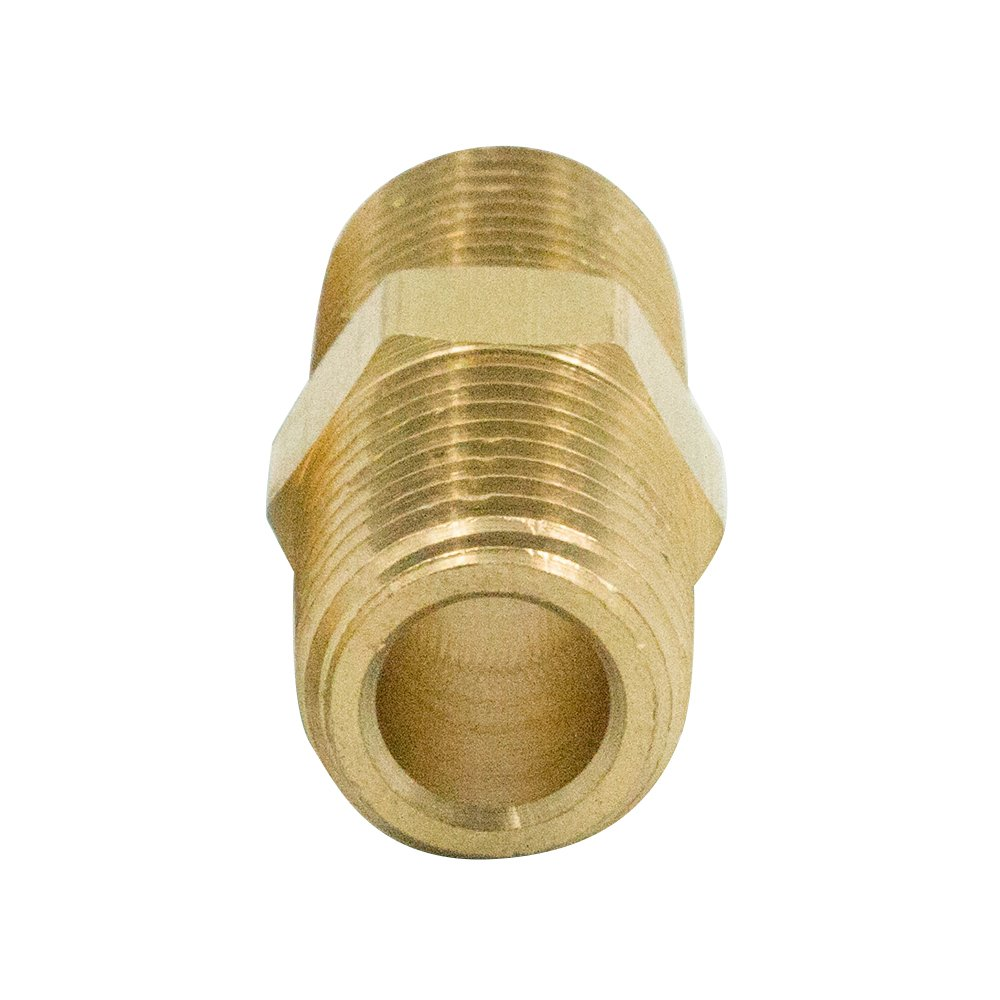 Reducer Pipe Fitting Pack of 2 Legines Brass 3//8 NPT Male x 1//4 NPT Male Reducing Hex Nipple