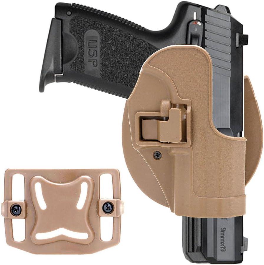 VANKER Port/átil t/áctico de Engranajes de pl/ástico de la Bolsa Diestro Conceal Pistolera para HK USP