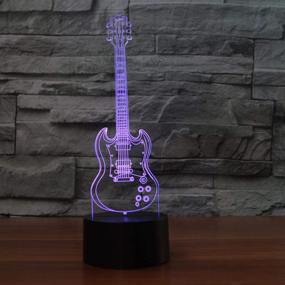 BFMBCHDJ Guitarra eléctrica con luz 3D creativa Modelo Illusion ...